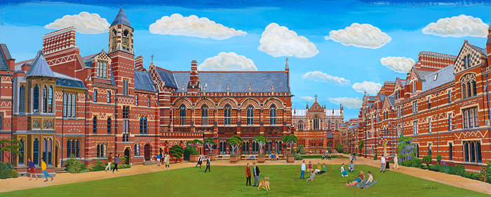 Keble College Art Prints by Brian Lewis, Keble College, Oxford